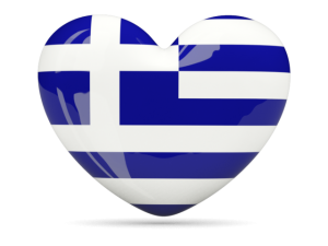 greek flag heart