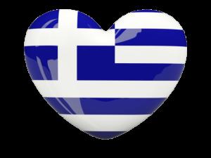 greek flag heart